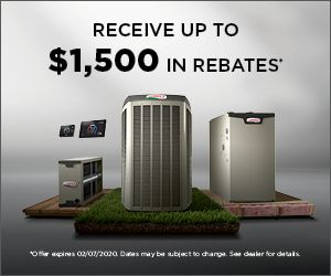 Receive up to $1500 in rebates when you upgrade to a Lenox furnace.